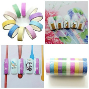 BTArtbox 10 Pcs Mixed Colours Glitter Self-adhesive Nail Tape Rolls Striping Decoration Professional DIY Nail Art Tool for Fingers or Toe - Great for Thanksgiving Gift Christmas Gift