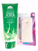 Foot Scrub-spa Mystique Exfoliating Foot Scrub with a Free Pumice Stone