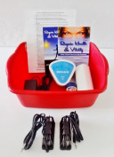Ionic Detox Foot Bath - Automatic Detox Ionic Foot Bath Spa Chi Cleanse Unit for Home Use. With 2 Super Duty Arrays - By Better Health Company - Free Regain Health & Vitality Booklet & Brochure!