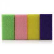 4pc Adoro Foot Scrub Away Pumice Sponge Bar set of 4 colour #001-11532
