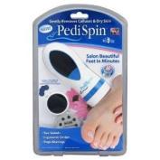 Pedi Spin Salon Beautiful Feet Removes Calloused Electric Pedicure Tools Microdermabrasion Machine.