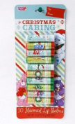 Christmas Caring Care Bears 10 Flavoured Lip Balms