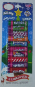 Christmas Lip Balm Set Pixy Stix, Nerds Fun Dip, Laffy Taffy