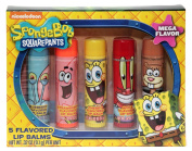 Nickelodeon Sponge Bob Square Pants 5 Flavoured Lip Balms