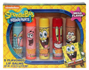 Nickelodeon Sponge Bob Square Pants 5 Flavoured Lip Balms