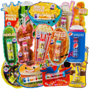 "10pc ""Classic Candy"" Or ""Food And Beverage"" Flavoured Lip Balm Tube Bulk Pack Set"