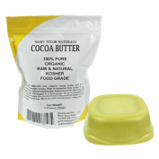 Organic Pure Raw Kosher Food Grade Cocoa Butter Non-Deodorised By Mary Tylor Naturals 0.5kg (470ml) Amazing Chocolate Aroma, Rich In Antioxidants. The Best Cocoa Butter on Amazon