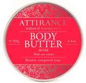 Attirance - Body Butter - Rose - 200ml - All Natural with Rose Essential Oil, Shea Butter & Grape Seed Oil