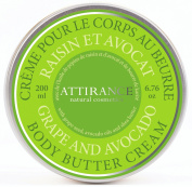 Attirance - Body Butter Cream - Grape & Avocado - 200ml - All Natural with Avocado Oil, Shea Butter & Grape Seed Oil