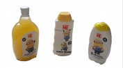 Minions Body Wash Shampoo and Bubble Bath Set