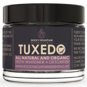 All Natural Teeth Whitening, 'Tuxedo' Tooth and Gum Powder By Rocky Mountain Essentials. Coconut Activated Charcoal and Bentonite Clay Formula. Use for 30 Days.