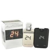 24 Platin.um The Fra.grance by ScentSto.ry Eau De Toilette Spray + 25ml Mini Pocket Spray 100ml for Men