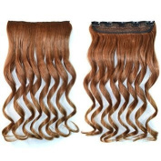 Awbin 60cm Chestnut Ombre Curly Curl Wavy Full Head Clip in Hair Extension