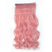 Awbin 60cm Chisato Pink Curly Curl Wavy Full Head Clip in Hair Extension