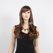 STfantasy 60cm Charming Long Curly Wave Light Brown Women Wig