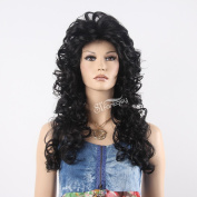 STfantasy 60cm Natural Looking Long Deep Curly Black Women Wig