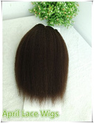 Natural Colour Wefts,kinky Straight Wefts,best Quality Indian Remy Human Hair Wefts--length 25cm