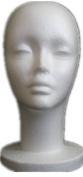 Wei Ni Si Female Styrofoam Mannequin Head Display