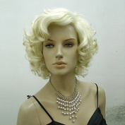 . Marilyn Monroe Type Human Synthetic Wig Female Sexy Short Wave / Curly Wigs High Quality 100% Japan Kanekalon Hair W3840