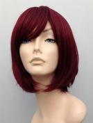 Magic Wig World Burgundy Red Chic Fashion Bob Wig