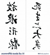 Bg Temporary Tattoo Inspire Series-penmanship