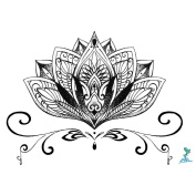Yeeech Temporary Tattoo Paper Sanskrit Lotus for Hand Sex Product