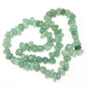 """AAA Natural Green Aventurine Gemstones Round Chips Beads Free-form Loose Beads ~10x8mm beads for Jewellery Making (1 strand, ~16"""") GZ3-6"""