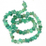 """AAA Natural Green Agate Gemstones Round Chips Beads Free-form Loose Beads ~10x8mm beads for Jewellery Making (1 strand, ~16"""") GZ3-3"""