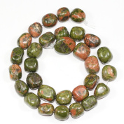 """AAA Natural Unakite Gemstones Smooth Round Nugget Loose Beads ~13x10mm beads for Jewellery Making (1 strand, ~16"""") GZ4-10"""