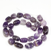 """AAA Natural Amethyst Gemstones Smooth Round Nugget Loose Beads ~13x10mm beads for Jewellery Making (1 strand, ~16"""") GZ4-9"""