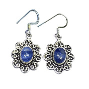 Sitara Collections SC10425 Tanzanite Sterling Silver Earrings