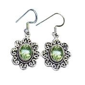 Sitara Collections SC10426 Green Amethyst Sterling Silver Earrings