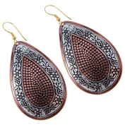 Sitara Collections SC5538 Silvertone, Bronze & Brass Painted Earrings