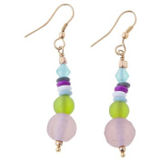 Sitara Collections SC5550 Asha Glass Multi Coloured Metal Earrings