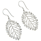 Sitara Collections SC5552 Ambika Leaf Wire & Beaded Metal Earrings