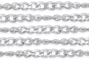1.5m Sterling Silver Singapore Rope Chain 1.2x1.8 mm For Diy Beading Arts and Crafts