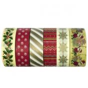 AllyDrew Oh Santa Washi Tapes Decorative Masking Tapes, set of 6