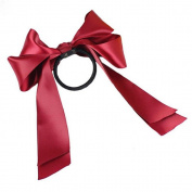 Cute Hair Accessory Satin Ribbon Bow Hair Bands Scrunchie Ponytail Holder Bowknot
