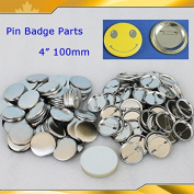 "4"" 100mm 100sets Pin Badge Button Parts Maker Machine Blank Supplies 015511"