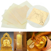 5x 24k Pure Gold Edible Real Leaf Leaves Sheet Gilding 3x3cm Craft Mask Spa Us