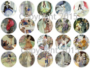Anne Anderson Fairy Talesl 4.4cm Circles Collage Sheet