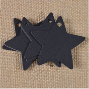 Xiaoqing 100 pcs Star Kraft Paper Wedding Party Card Gift Bookmark Label Luggage Tags