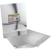 Hygloss Mirror Board, 22cm by 28cm , Silver, 20-Pack