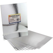 Hygloss Mirror Board, 22cm by 28cm , Silver, 10-Pack