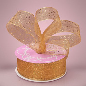 Premium Gold Glitter Ribbon - 10 Yards - 6.4cm Wide
