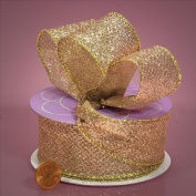 Premium Gold Glitter Ribbon - 10 Yards - 3.8cm Wide