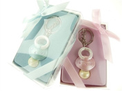Firefly Imports Baby Shower Party Favour Baby Pacifier Key Chain, Light Pink