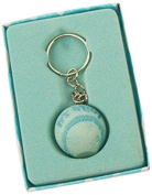 Firefly Imports Baby Shower Party Favour It's a Boy/Girl Baseball Key Chain, Light Blue
