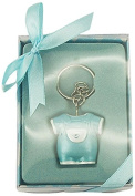 Firefly Imports Baby Shower Party Favour Keepsake Baby Clothes Key Chain, Light Blue