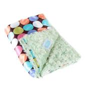 AllyZabba blanket - large 90cm x 70cm choco dot /kiwi